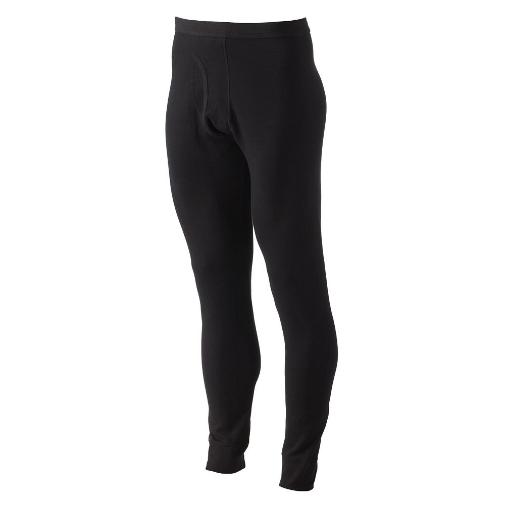 Croft & Barrow Solid Thermal Underwear Pants Black X-Large