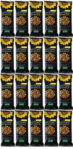 Sunflower Food Co Honey Roasted Sunflower Kernels 1.2 oz Bags 20 Pack – Non-GMO Sunflower Seeds Single Serving Snack – Kosher
