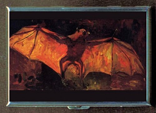Vincent Van Gogh Stuffed Bat GothステンレススチールIDまたはCigarettesケース( Kingサイズまたは100 mm )   B00SQMJQ5Y
