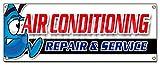 AC REPAIR & SERVICE BANNER SIGN hvac air conditioning estimates finance