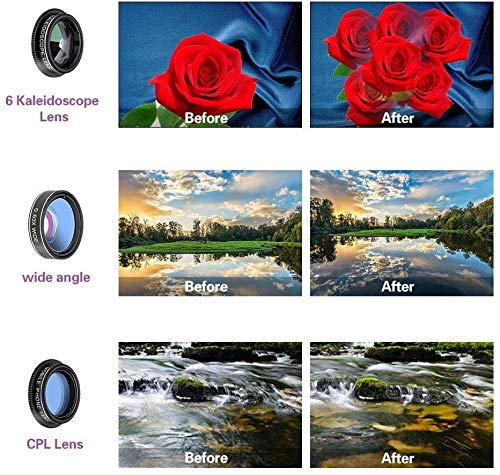 198Fisheye Lens CPL Tripod Remote Control 6 in 1 Phone Camera ...