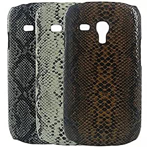 WQQ 20150511 GYM Snake Feel Pattern Back Case for Samsung Galaxy S3 Mini I8190(Assorted Colors) , Brown