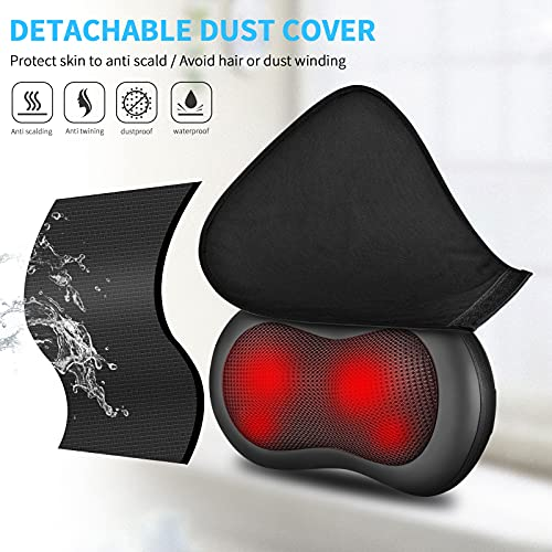 Back Massager with Heat- 2021 Upgraded ROCKBIRDS Deep Tissue Kneading Shiatsu Neck Massager for Shoulder, Lower Back, Leg, Foot, Ideal Christmas Birthday Gifts for Dad/Women /Father/Mother