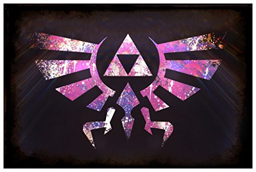 Sheik Costume Legend Of Zelda (Tri-Force Legend Of Zelda Splash Art Poster Wall Print|Inspirational Motivational Classroom Home Office Dorm|18 X 12 In|SJC110)