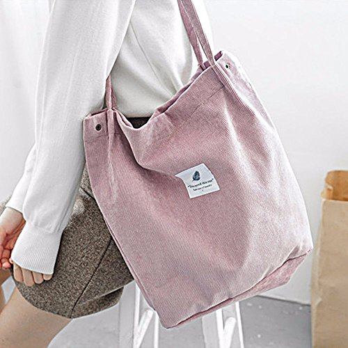 Crossbody and Corduroy for Pink Girls' Style Hand Bag Simple Chic Jin Snap Books Vintage Bag Ya Ipad Closure wHPAxY