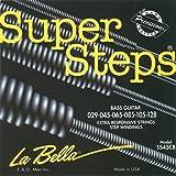 LaBella SS45CB Super Steps 6-String Bass Strings, Medium