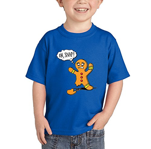 Oh Snap - Broken Christmas Cookie T-Shirt (Royal Blue, 24 Months) (Rudolph Cookie)