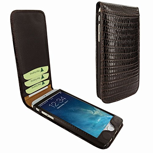 Piel Frama 689 Brown Lizard Magnetic Leather Case for Apple iPhone 6 Plus / 6S Plus by Piel Frama