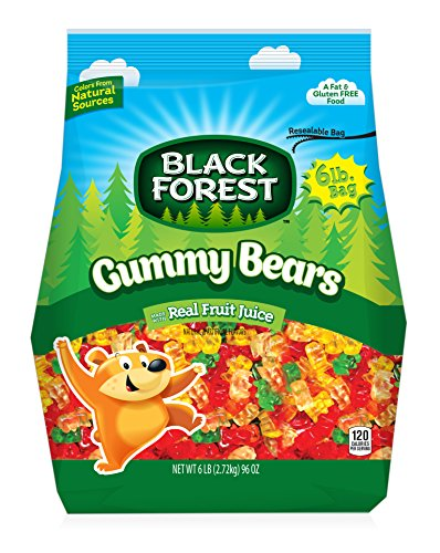 Black Forest Gummy Bears Ferrara Candy, Natural and Artificial Flavors, 6 - Black Bears Forest Gummi