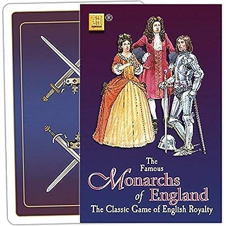 Jeu Carte Angleterre.The Famous Monarques De Angleterre Carte De Jeu Jeu Hpc