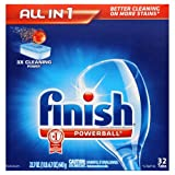 Reckitt Benckiser FINISH Powerball Dishwasher Tabs, 32 Per Box (8 Boxes/Carton) - BMC- REC81049