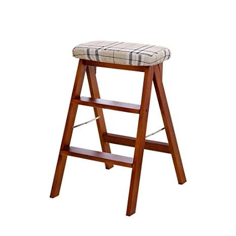 Enjoyable Amazon Com Wood Step Stool Folding Ladder Chair Bench Seat Beatyapartments Chair Design Images Beatyapartmentscom