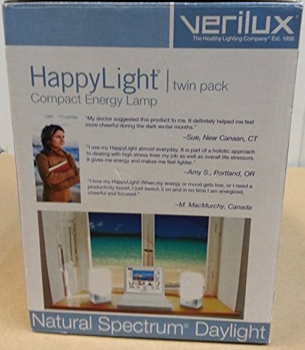 Verilux Natural Spectrum HappyLite Mini Duo, Combo Pack, 2 Lights