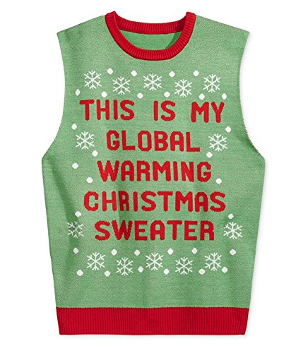 AMERICAN RAG CIE Men Small Global Warming Vest Sweater Green S from American Rag