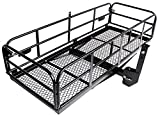 Merax Hitch Cargo Carrier 59' X 24' X 15.4' Foldable Mount Basket Luggage Rack 360 lbs Capacity Fits 2' Receiver