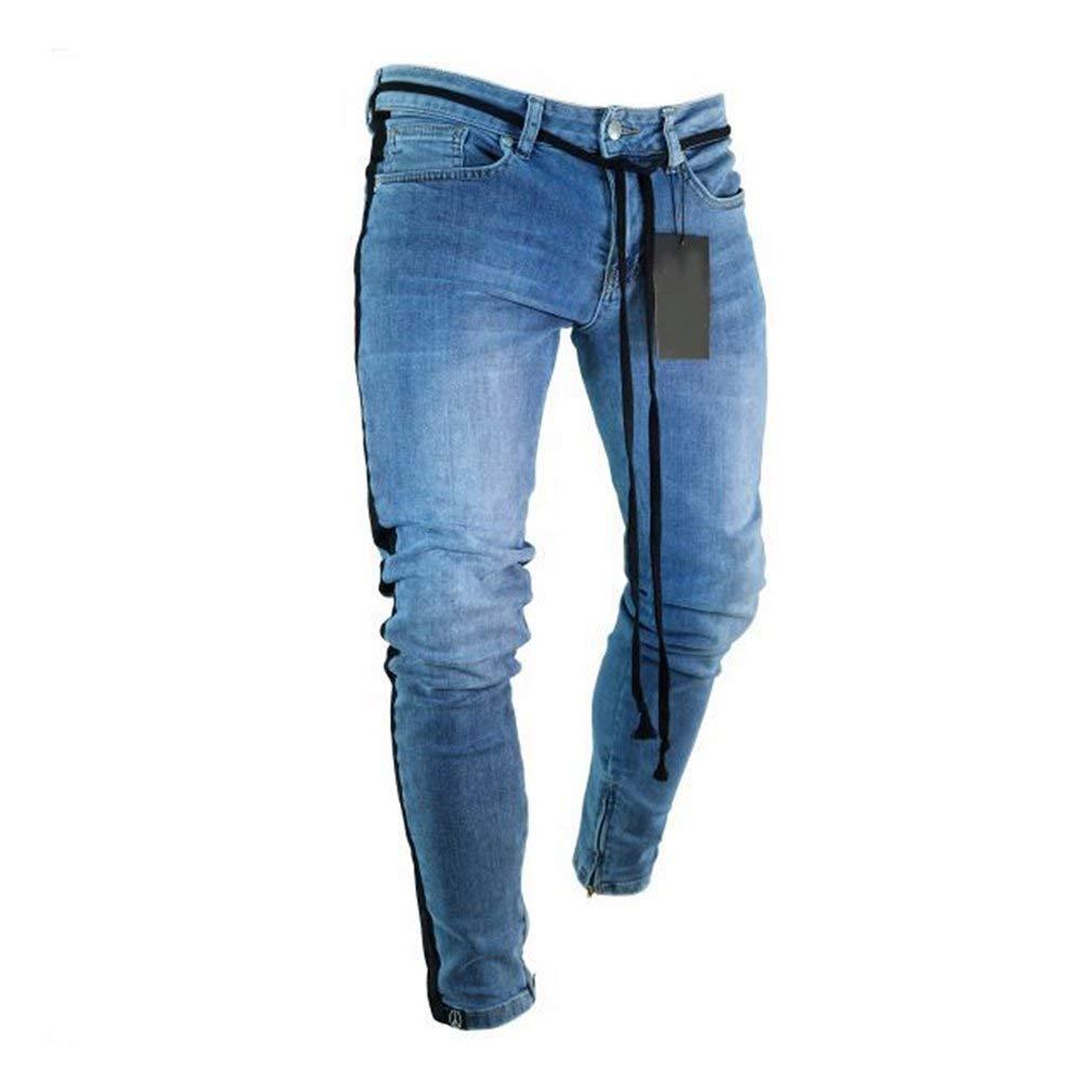 b1f7c97766 QK-Lannister Jeans Skinny Bucati con Fori Spezzati Uomo Ragazzo con ...
