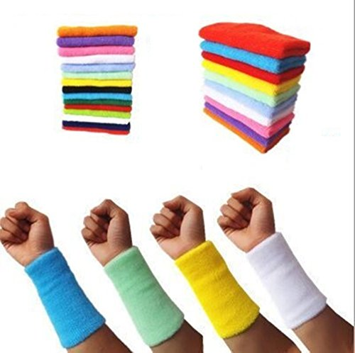 Kagogo 6 Inch Long Thick Cotton Sports Wristband/Sweatband for Basketball Tennis and Other Sports, Price/Pair – DiZiSports Store