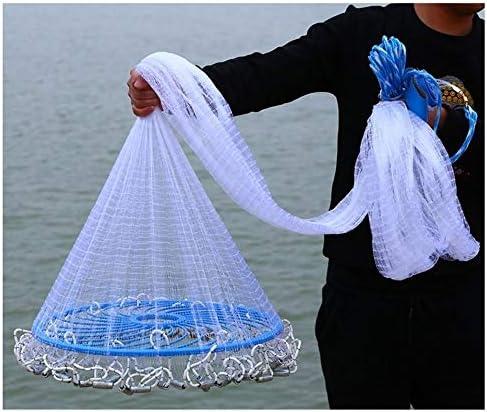 漁網 投げ網 投網 投げ 魚 手 漁を 漁に 仕掛け キャスト 罠トラップ 釣り 網を 網 ネット 魚キラー 漁具,のために適した 淡水 塩水 川 湖 海 捕獲 引っかかっ 捕らえ 魚 エビ カニ 漁業 漁師,螺旋式 折り畳み式,ナイロン ライン,半径 1.35 m - 2.35 m,網目 1 cm