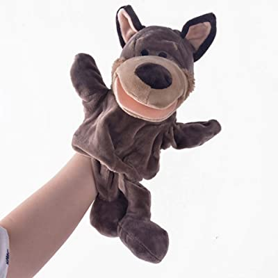 wanjuM Plush Hand Puppets Simulation Animal Puppets Gifts Hand Puppet Parent-Child Game Plush Toys for Boys: Home & Kitchen