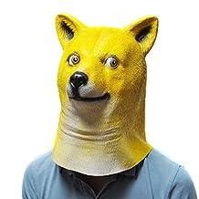 Sirwolf Novelty Halloween Animal Dog Head Mask, Shiba inu Latex Mask