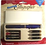 Sheaffer Viewpoint Calligraphy Pen Kit Set with 3 Nibs, Fine, Medium and Broad, Instructions, Ink Cartridges in 4 Colors and 6 Cards with Envelopes by Sheaffer
