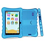 """YUNTAB Q88H Kids Edition Tablet, 7"""" Display, 8 GB, WiFi, Bluetooth, Kids Software Pre-Installed, Premium Parent Control, Educational Game Apps, Protecting Silicone Case, Blue"""