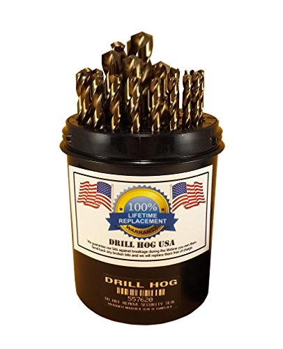 (Drill Hog 29 Pc COBALT M42 HSSCO Drill Bit Set Drill Index USA)