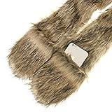 Unisex Men Women Girls Fluffy Faux Fur 3-in-1
