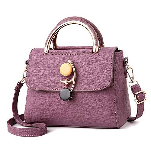 Borsa Purple Hardware Serratura Da Nera Pelle Donna Tracolla Per Con Mkhdd In black Di A Lusso Piccola TdO6waq