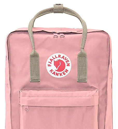 Fjallraven Women's Kanken Backpack, Fog/Pink, One Size