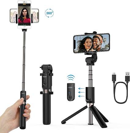 comprar Yoozon Palo Selfie Trípode Bluetooth,Mini Selfie Stick Bolsillo para Autofoto.Extensible de Control Remoto Monopié inalámbrico 3 en 1.Rotación 360 Grados para teléfonos Inteligentes iPhone y Andriod