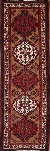 Rug Source One-of-A-Kind Meshkin Tribal Geometric 5x11 Brown Wool Persian Runner Rug (11' 0
