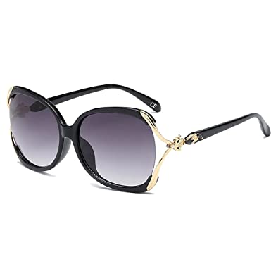 BVAGSS Fashion Retro Sonnenbrille Damen 100% UV-Schutz(WS008) (Brown) hNgK01daG