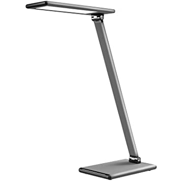 L/ámpara Escritorio LED TaoTronics Flexo Oficina 12W con USB 5V// 2A iSmart 5 Temperaturas de Color, 6 Niveles de Brillo, Funci/ón de Memoria//Configuraci/ón Favorita, Temporizador, luz Nocturna Metal