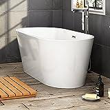 1500 x 750 mm Designer Freestanding Bathtub Luxury Bathroom Double Ended Bath BR267
