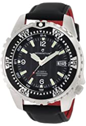 Momentum Men's 1M-DV06B12B M1 Deep 6 Black Dial Black Touch Leather Watch