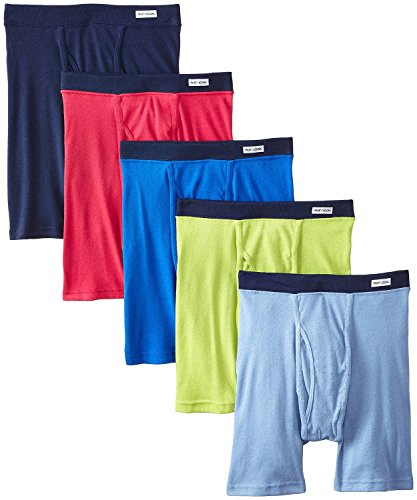 Fruit of the Loom Men's No Ride Up Boxer Brief, Assorted (Covered Waistband) 5-Pack, X-Large