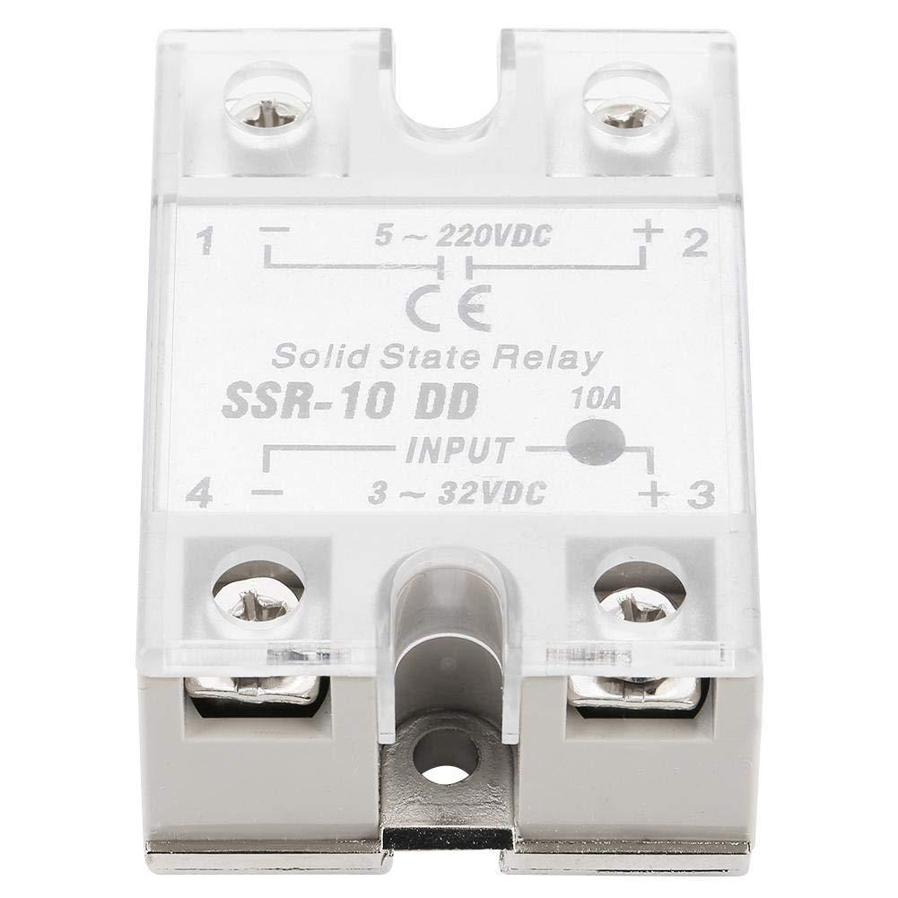 SSR-10 DD 10A 5-220VDC Relais /à Semi-conducteurs pour le Processus dAutomatisation Industrielle