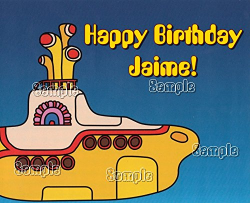 The Yellow Submarine Edible image cake topper