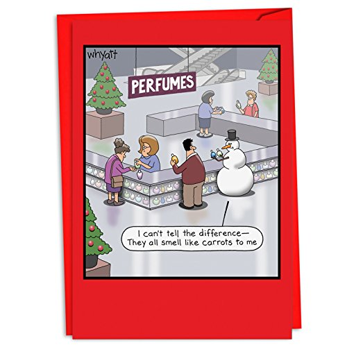 Carrot Perfume: Humorous Christmas Card, with Envelope. C4534XSG