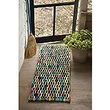 Kalalou Recycled Flip Flop Large Rectangle Mat