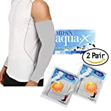 Aqua X ARM Sleeves for Men and Women Sun Protective Skin UV Cut Flexible & Durable (Grey 2 Pairs)