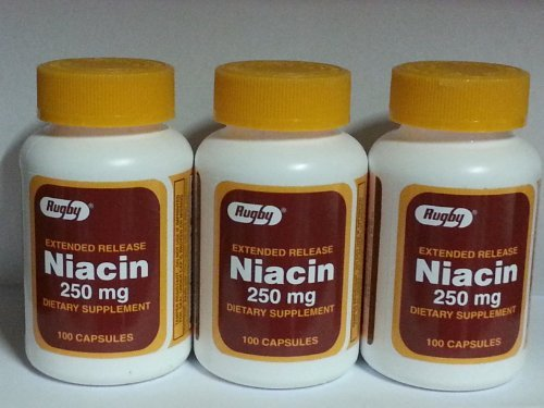 Rugby Extended Release Niacin 250mg Capsules 100ct - 3 Pack (3)