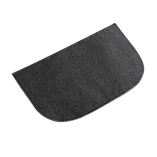 Berber Utility Floor Rug, Black, 18 X 28