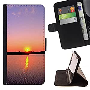 DEVIL CASE - FOR Samsung Galaxy Note 3 III - Sunset Beautiful Nature 88 - Style PU Leather Case Wallet Flip Stand Flap Closure Cover
