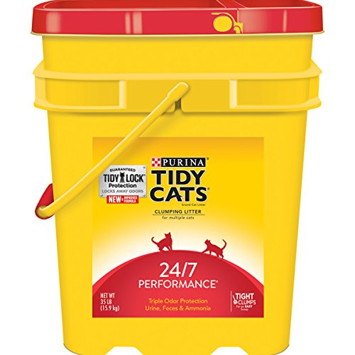 Tidy Cats Cat Litter, Clumping, 24/7 Performance, 35-Pound Pail, Pack of 1 (Tidy Cat 35 Lb Cat Litter compare prices)
