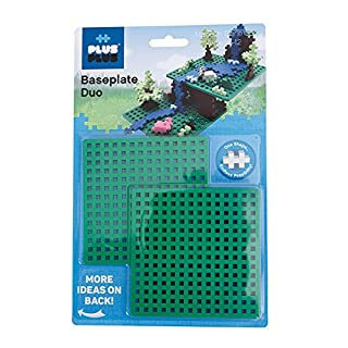 PLUS PLUS – Green Baseplate Duo – Base Accessory for Building and displaying Creations, 4.5 X 4.5 inches, Construction Building STEM   STEAM Toy for Kids