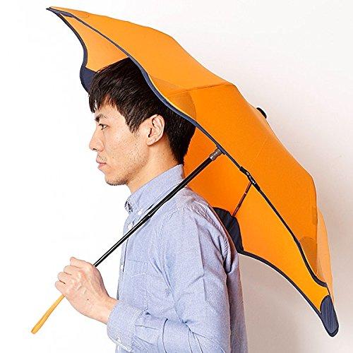 ブラント(BLUNT) 【空気力学による風に強い構造6色展開】ユニセックス折りたたみ傘(メンズ/レディース雨傘) B072K79T9S43オレンジ 51