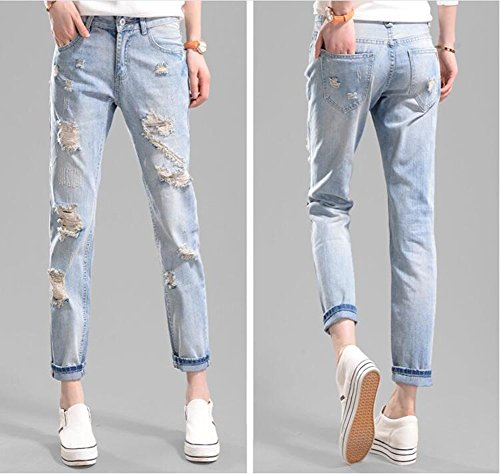 Pieds tait La Wa Laches Collants Sarouel Mode Jeans Trou Des Mince Femmes Da Nouvelle wvPdqw