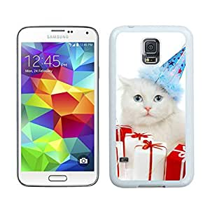 Personalized Hard Shell Christmas Cat White Samsung Galaxy S5 Case 34
